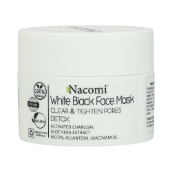NACOMI White Black Face Mask with activated carbon 50ml