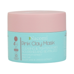NACOMI Pink Clay Mask Clearing and Tightening pores 50ml