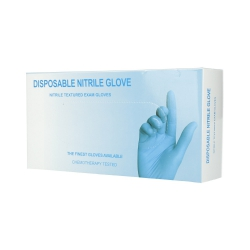 Blue nitrile disposable gloves size L 100pcs.