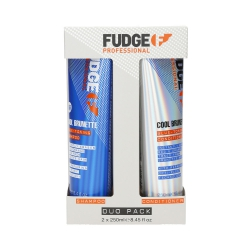 FUDGE PROFESSIONAL COOL BRUNETTE Blue-Toning Set Shampoo 250ml+Conditioner 250ml