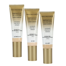 MAX FACTOR MIRACLE Second Skin Foundation SPF20 30ml