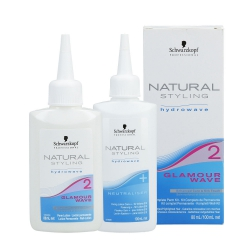 SCHWARZKOPF PROFESSIONAL NATURAL STYLING Glamour Wave 2 Perm lotion 80ml + Neutralizer 100ml