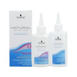 Schwarzkopf Professional - NATURAL STYLING - Glamour Wave 0 Perm lotion (80 ml.) + Neutralizer (100 ml.)