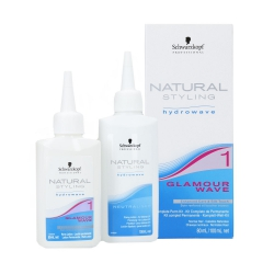 SCHWARZKOPF PROFESSIONAL NATURAL STYLING Glamour Wave 1 Perm lotion 80ml + Neutraliser 100ml