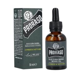 PRORASO SINGLE BLADE Cypress&Vetiver Beard Oil 30ml