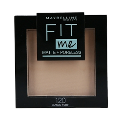 MAYBELLINE FIT ME Matte & Poreless Face powder 120 Classic Ivory 8,2g