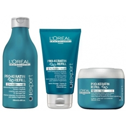 L'Oréal Professionnel Pro-Keratin Refill Set Shampoo 250 ml+ Conditioner 150 ml + Mask 200 ml