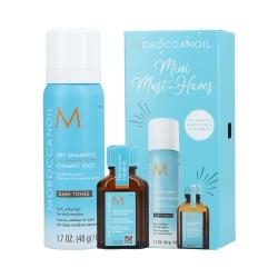 MOROCCANOIL MINI MUST-HAVES DARK TONES Dry Shampoo Dark 65ml + Moroccanoil Treatment 15ml