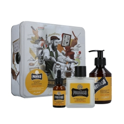 PRORASO SINGLE BLADE Wood And Spice Beard Set