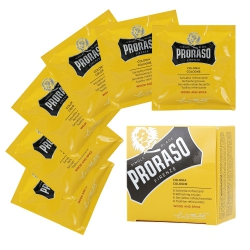 PRORASO SINGLE BLADE Wood And Spice Refreshing Wipes for beards 6 pcs
