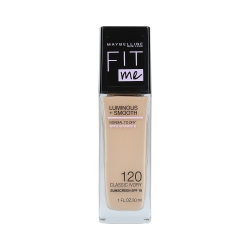 MAYBELLINE FIT ME LUMINOUS + SMOOTH Foundation 120 Classic Ivory 30ml