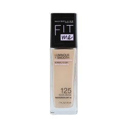MAYBELLINE FIT ME LUMINOUS + SMOOTH Foundation 125 Nude Beige 30ml