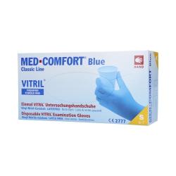 MED COMFORT Classic Line Nitrile-vinyl gloves disposable, blue, 100 pcs S