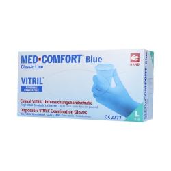 MED COMFORT Classic Line Nitrile-vinyl gloves disposable, blue, 100 pcs L