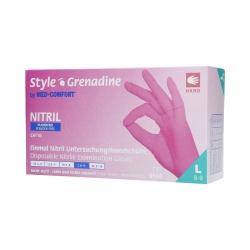 MED COMFORT Style Grenadine Disposable nitrile gloves pink, 100pcs. L