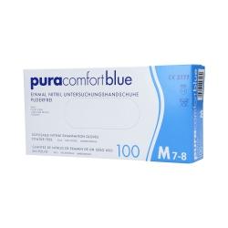 PURA COMFORT Disposable nitrile gloves blue, 100pcs. M