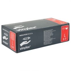 Vinylex Pre-Powdered Vinyl Gloves L 100 pcs