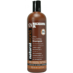Natural World Macadamia Oil Ultra Nourishing Shampoo 500 ml