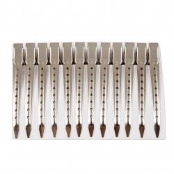 Metal Hairdressing Clips Medium 11.4 cm 12 pcs.