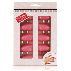 Pink Clips to Remove Nail Acrylic Glitters Hybrid Gel Nail Polish 10 pcs
