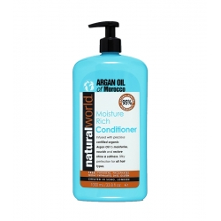 NATURAL WORLD ARGAN OIL of Morocco Moisture Rich Conditioner for all hair types 1000ml