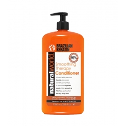 NATURAL WORLD BRAZILIAN KERATIN Smoothing Therapy Conditioner for dry and frizzy hair 1000ml