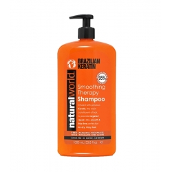 NATURAL WORLD BRAZILIAN KERATIN Smoothing Therapy Shampoo for dry and frizzy hair 1000ml