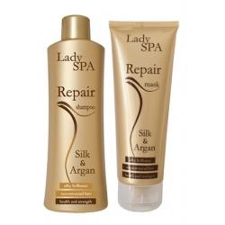 Scandic Lady Spa Repair Silk & Argan Set Shampoo 250 ml + Mask 250 ml