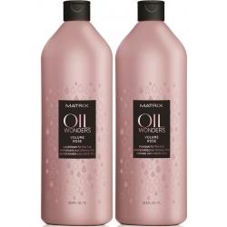 Matrix Oil Wonders Volume Rose Shampoo 1000 ml + Conditioner 1000 ml