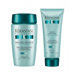 Kérastase Resistance Bain Force Architecte Shampoo 250 ml + Ciment Anti-Usure Cream 200 ml