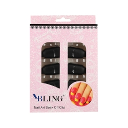 CLIPS TO REMOVE THE LACQUER HYBRID BLACK 10PCS