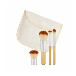 3.TOOLS FOR BEAUTY Set of 4 travel size bamboo make-up brushes