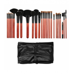 TOOLS FOR BEAUTY Set of 28 cherry & black make-up brushes