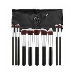 TOOLS FOR BEAUTY Set of 10 make-up brushes - black