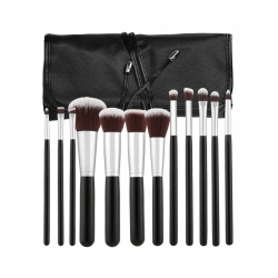 TOOLS FOR BEAUTY Set of 12 make-up brushes - black