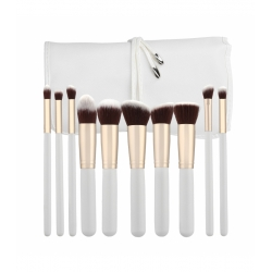 TOOLS FOR BEAUTY Set of 10 make-up brushes - white