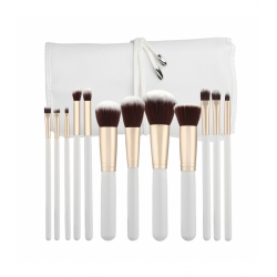 TOOLS FOR BEAUTY Set of 12 make-up brushes - white