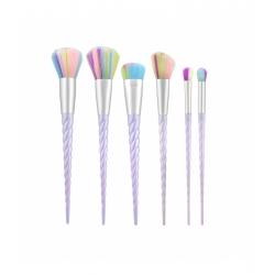 TOOLS FOR BEAUTY Set of 6 unicorn make-up brushes
