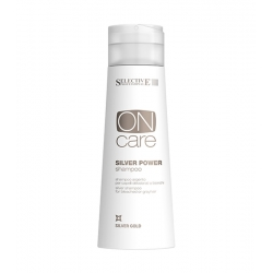 Selective Professional On Care Silver Gold Silver Power Shampoo Bleached or Gray Hair 250 ml