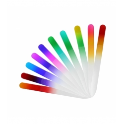 TOOLS FOR BEAUTY Glass nail file rainbow printed
