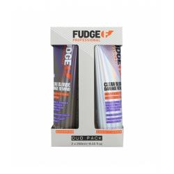 FUDGE CLEAN BLONDE Damage Rewind Set Shampoo 250ml+Conditioner 250ml