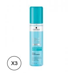 Schwarzkopf BC Moisture Kick Conditioner Spray Normal and Dry Hair 3 x 200 ml
