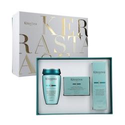 Kérastase - RÉSISTANCE - Set : Shampoo 1-2 + Mask 1-2 + Blow-Dry Milk